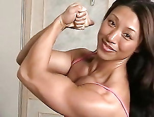 Muscular Woman Rock-Hard Asian
