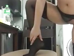 Amateur;Asian;Stockings;Cuckold;Wife Sharing;Big Cock Hotwife Anklet 2