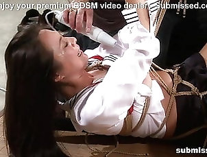 Asian;BDSM;HD Videos;Bondage;Dildo;Hogtied Asian slave is...