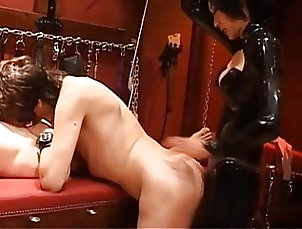 Asian;Brunette;Cumshot;Bisexual;Femdom;Latex;Strapon;Threesome;Strapons;Two Guys;Two Men;Latex Mistress;Latex Blowjob;Strapon Man;Male;Strapon Guy;Strapon Male;Male Blowjob latex mistress...