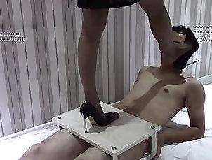 Asian;Foot Fetish;Nylon;Chinese;HD Videos;Ballbusting;Footjob;High Heels;Cock Crush;Chinese Cock Chinese cock crush