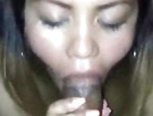 Asian;Babe;Blowjob;Close-up;Cumshot;Facial;Bikini;Cum in Mouth;Friends Blowjob with my bf