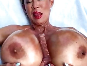 Asian;Close-up;Pornstar;Korean;Outdoor;Cell Phone;Dildo;High Heels;Titty Fucking;Big Tits;Nude Outdoors;Oiled Tits;Busty Pornstars;Tittyfuck;Minka;Soft Core;South Korean;Tanned Asian;Huge Silicone Tits Minka - Oiled Up...